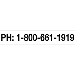 Pipeline Blockout Decal - Emergency Number
