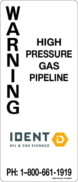 15 x 35 cm Pipeline Signs