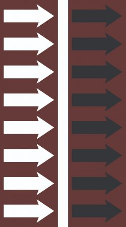 R 10 Chestnut Brown Arrow Tape