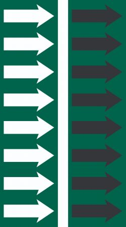 R 05 Dark Green Arrow Tape