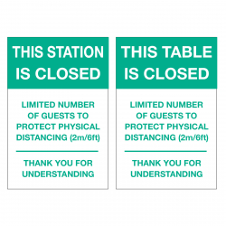 Table/Station is Closed