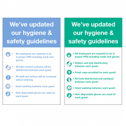 Updated Hygiene & Safety Guidelines