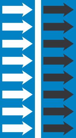 R 08 Safety Blue Arrow Tape