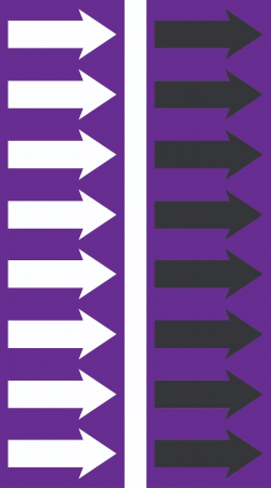 R 09 Purple Arrow Tape