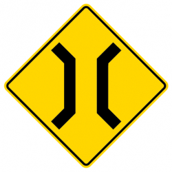 Narrow bridge Traffic Sign