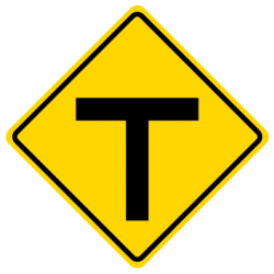 T intersection Traffic Sign