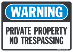 W-301 Private Property