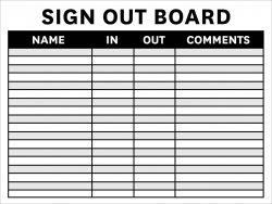 Sign in / Sign out Whiteboard