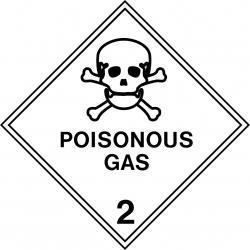 Poisonous Gas Classification Decal