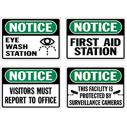 Notice Signs & Decals