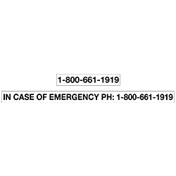 Blockout Decal - Emergency Number