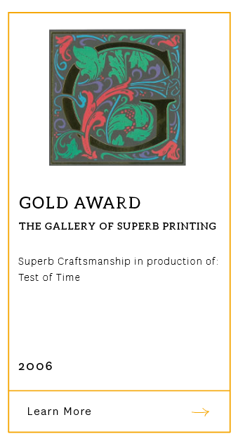 Gallery of Superb Printing - Gold Award 2006