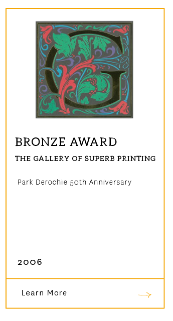 Gallery of Superb Printing - Bronze Award 2006