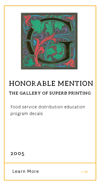Gallery of Superb Printing - Honorable Mention 2005