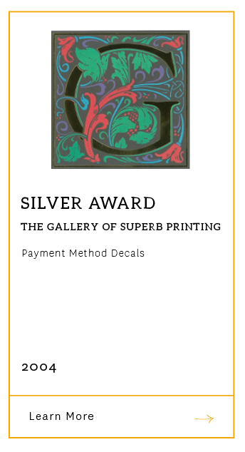 Gallery of Superb Printing - Silver Award 2004