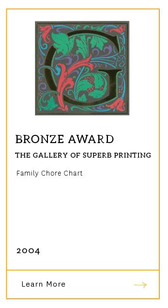 Gallery of Superb Printing - Bronze Award 2004