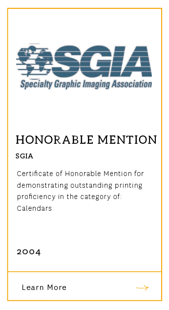 SGIA Honorable Mention 2004