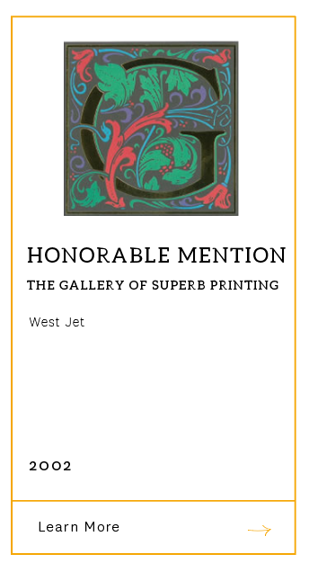 Gallery of Superb Printing - Honorable Mention 2002