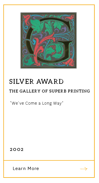 Gallery of Superb Printing - Silver Award 2002