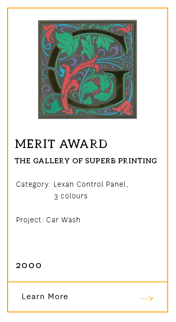 Gallery of Superb Printing - Merit Award 2000