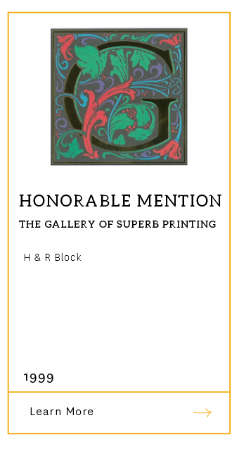 Gallery of Superb Printing - Honorable Mention 1999