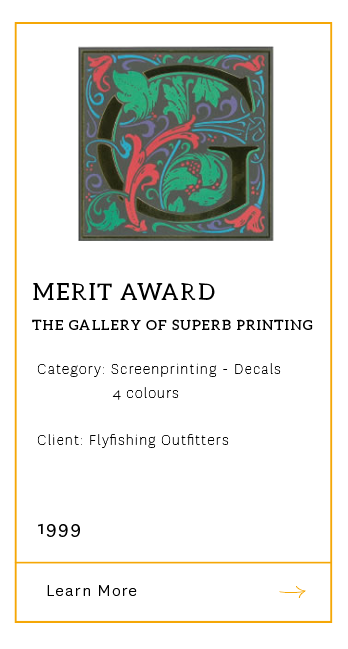 Gallery of Superb Printing - Merit Award 1999