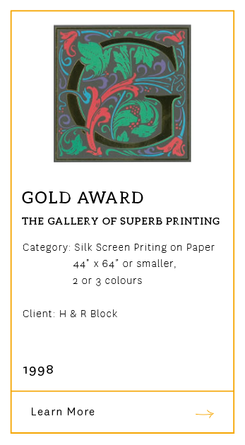 Gallery of Superb Printing - Gold Award 1998