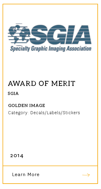 SGIA Award of Merit 2014