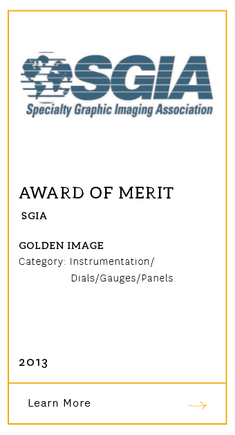 SGIA Award of Merit 2013