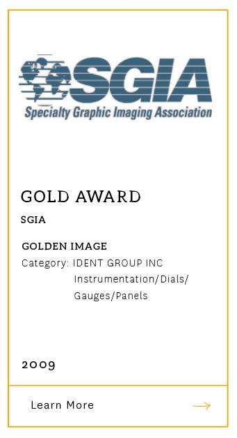 SGIA Gold Award 2009