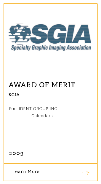 SGIA Award of Merit 2009
