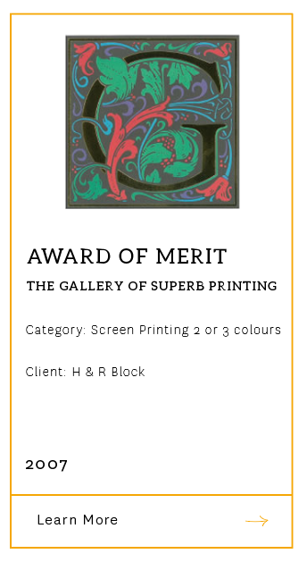 Gallery of Superb Printing Award of Merit 2007