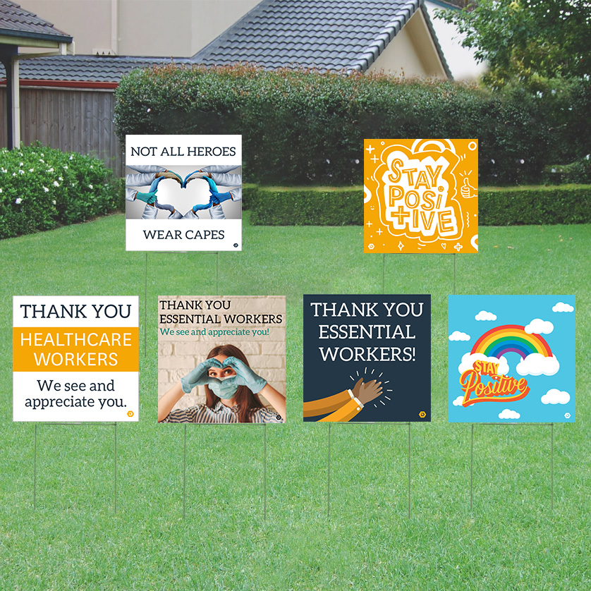 Lawn Sign Fundraiser Layout Options