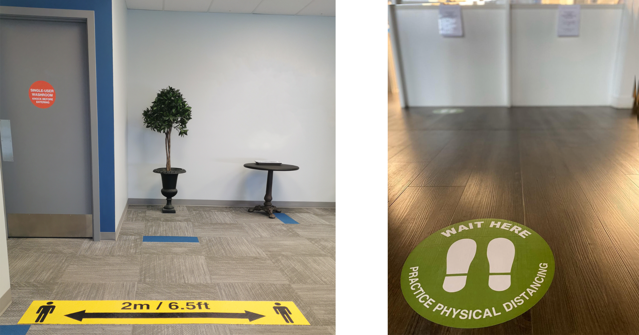 Floor Graphics for COVID-19
