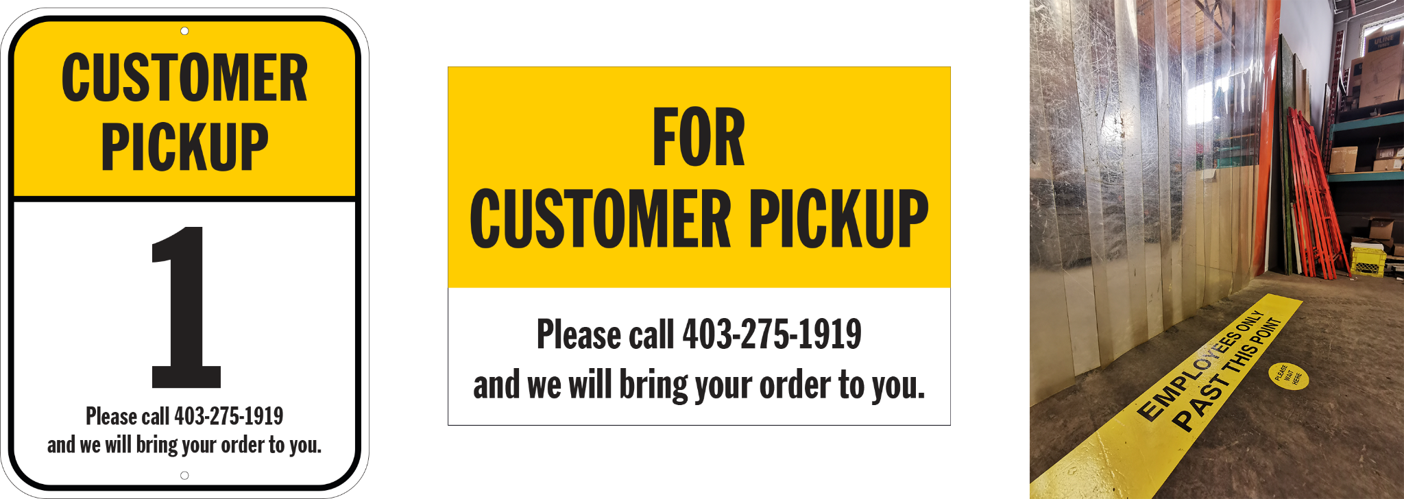 avoid unnecessary contact with couriers and customers
