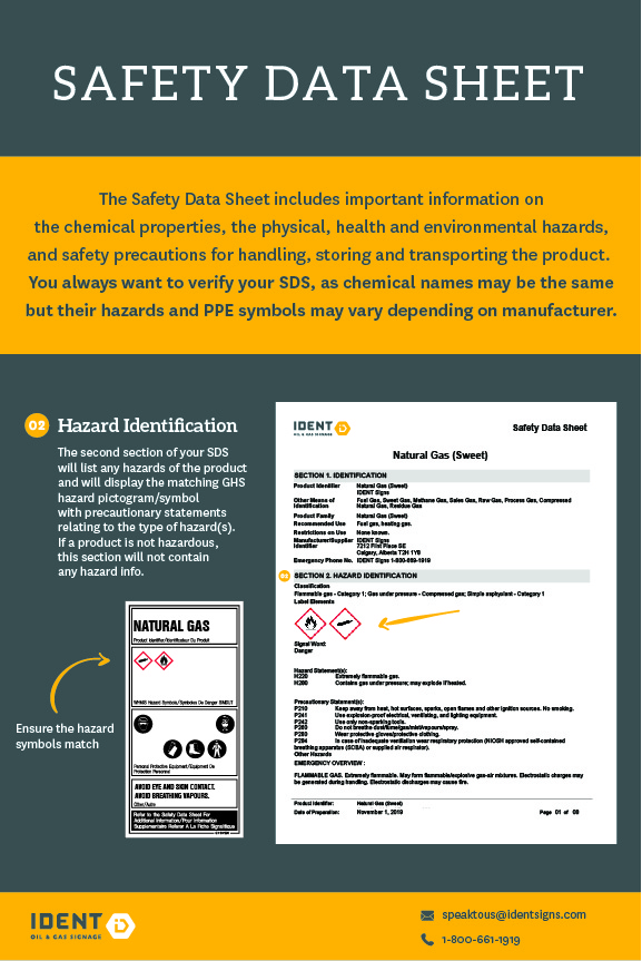 Page 1 of an IDENT Safety Data Sheet