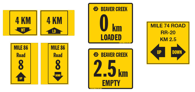 Km Marking Signs, AB & BC
