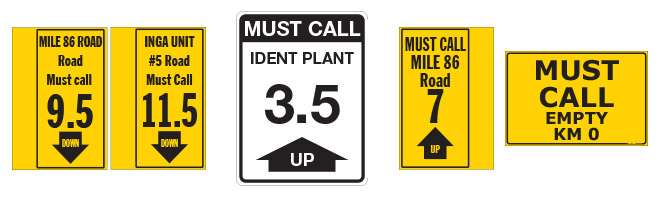 Must Call Signs