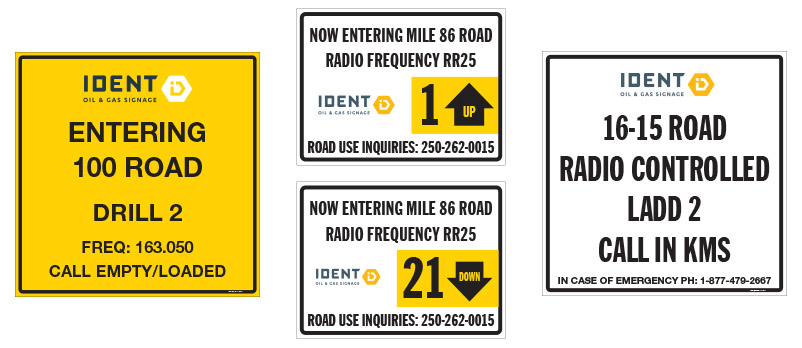 Radio Controlled, Radio Assist & Road Entry Signs
